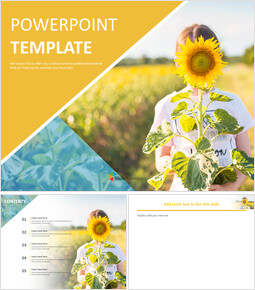 Free Google Slides Templates - Sunflower Girl_00