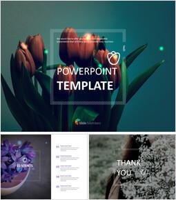Free Google Slides themes - Tulip Bouquet_00
