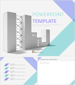 프리젠테이션 무료 이미지 - 밝은 자주색 대각선으로 무늬가있는 건물 배경_00