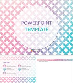 무료 프리젠테이션 템플릿 - 그라데이션으로 분홍색과 파란색 점_00