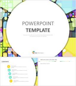 Kostenlose professionelle Google Slides-Vorlagen - Glasmalerei Muster_00