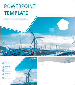 Wind Powered System Keynote Template Free Download