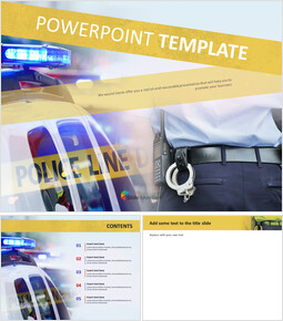 Incidents and Police Cars - Google Slides Template Free_00