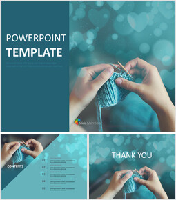 Knitting With Love - Free Presentation Templates_00