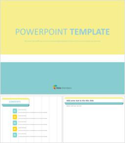 민트와 노란 줄무늬 배열 - 무료 Google 슬라이드 템플릿_00