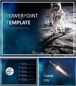 달과 우주 비행사 - 무료 Google 슬라이드 템플릿_00