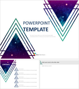 Purple Cosmic Triangle - Free Google Slides Template_00