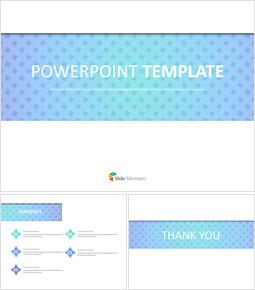 바다색 바람개비 패턴 - 무료 비즈니스 구글 슬라이드 템플릿_00