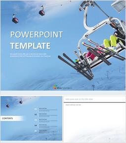 스키 리조트 - 구글 슬라이드 템플릿 무료 다운로드_00