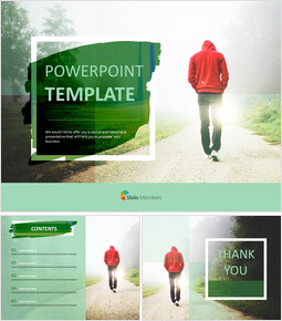 Take a Walk in the Early Morning - Free Google Slides Template Design_00
