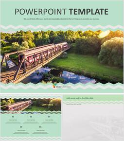 기차 여행 - 무료 Google 슬라이드 템플릿 디자인_00