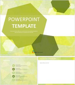 황록색 육각형 - 무료 Google 슬라이드 테마_00
