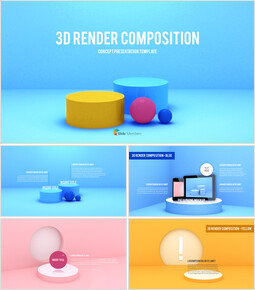 3D Render Composition Business plan PPT_00