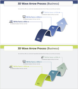 3D 웨이브 화살표 프로세스 다이어그램 (비즈니스)_00