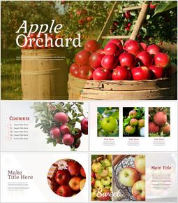 사과 과수원 Google 슬라이드 프레젠테이션 템플릿_00