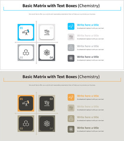Basic Matrix with Text Boxes Diagram (Chemistry) Design brief Templates_00