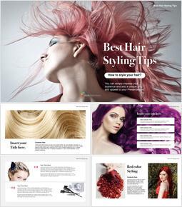 Best Hair Styling Tips Theme Keynote Design_00