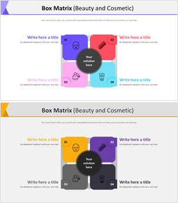 Box Matrix Diagram (Beauty and Cosmetic) Effective PowerPoint Presentations_00