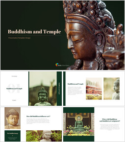 Buddhism and Temple PPT Templates Design_00