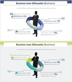 Business man Silhouette Diagram (Business)_2 slides