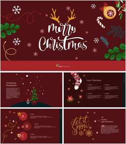 Christmas Illustration Google Slides_00