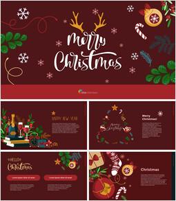 Christmas Illustration PPT Background Images_00