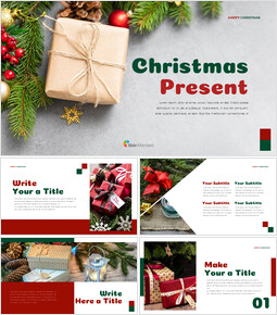 크리스마스 선물 프레젠테이션을 위한 구글슬라이드 템플릿_00
