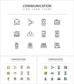 communication Vector Icons Set_3 slides