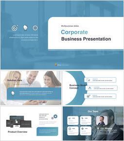 企業の多目的スライド シンプルなキーノートのテンプレート_00