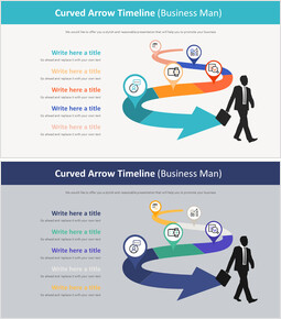 Curved Arrow Timeline Diagram (Business Man)_00