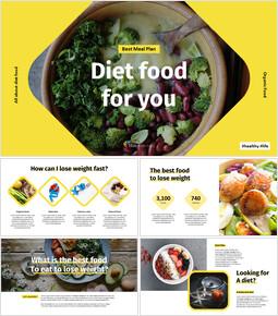 다이어트 음식 Google 프레젠테이션 슬라이드_00
