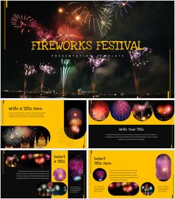 불꽃 축제 심플한 Google 슬라이드 템플릿_00