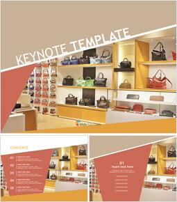 Free Keynote Template Download - handbag store_00