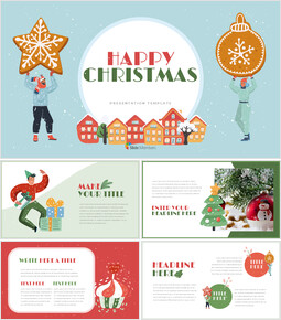 Happy Christmas Easy Google Slides Template_00