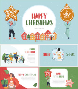 Happy Christmas PPT Templates Design_00