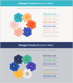 Hexagon Puzzle Diagram (Business Man)_00