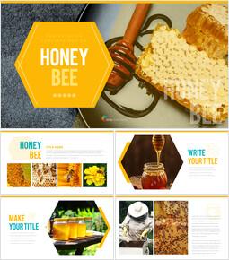 허니비(꿀벌) 간단한 디자인 템플릿_00