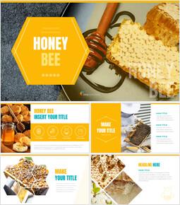 허니비(꿀벌) 창의적인 구글슬라이드_00