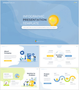 Infographic Flat Design Template Business Strategy PPT_15 slides