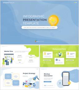 Modello di design piatto infografica Slides Google personalizzato_00