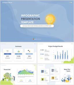 Infographic 디자인 피치덱 크리에이티브 키노트 템플릿_00