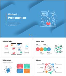 Icona linea presentazione minima Diapositive di presentazione di Google_00