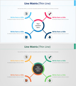 Line Matrix Chart Diagram (Thin Line) Proposal Presentation Templates_00