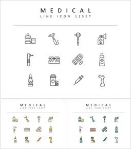 Medical Flat Design Icons_3 slides