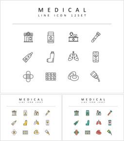 Medical Vector Icons Set_3 slides