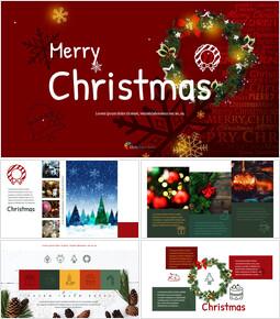 메리 크리스마스 편집이 쉬운 Google 슬라이드_00