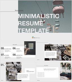 Minimalistic Resume Template PowerPoint for mac_00