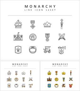 Monarchy Icons Vectors_3 slides