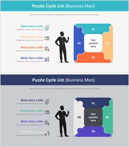 Puzzle Cycle List Diagram (Business man)_2 slides