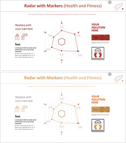 Radar with Markers Chart (Health and Fitness)_00